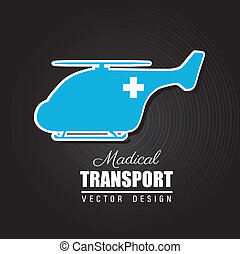 medical design over black background vector illustration