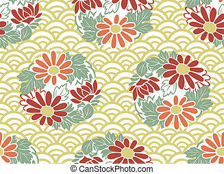 seamless japanese floral pattern