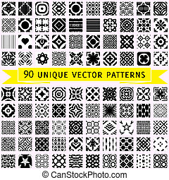 Set of ninety vector patterns - Set of 90 universal vector...