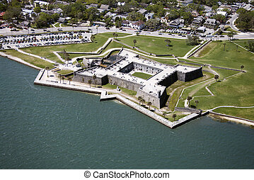 Castillo de San Marcos. - Aerial view of Castillo de San...