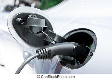 Charging A Hybrid Car  - Charging A Plug-in-Hybrid Car