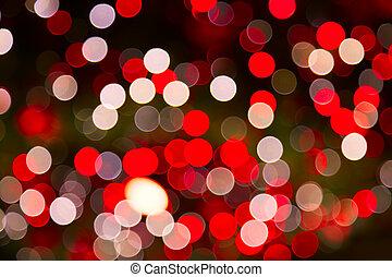 Defocused ligths of Christmas tree