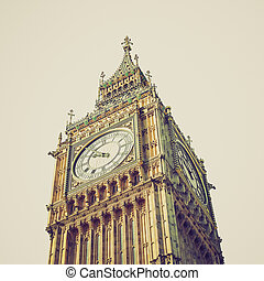 Vintage look Big Ben, London - Vintage looking Big Ben at...