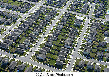 Texas suburb - Aerial view of suburb in Bay City, Texas