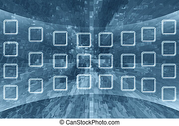Abstract technology background - Illustration of abstract...