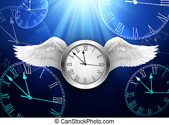 Time Passing Concept Clock Fly