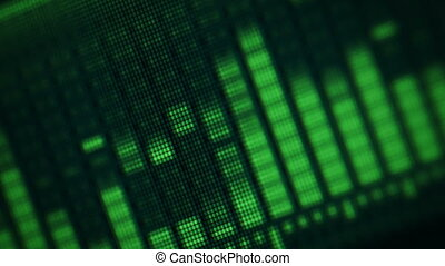 equalizer on electronic screen - Video 1080p - Green...