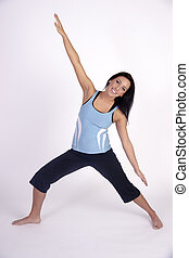 Beautiful Young Brunette Woman Practicing Yoga Meditation Pose