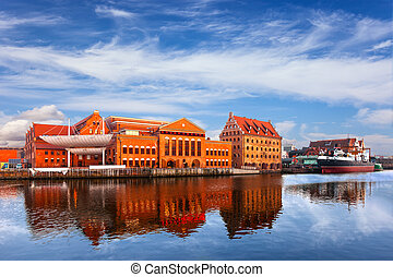 Granary Island - Former granary and the Baltic Philharmonic...