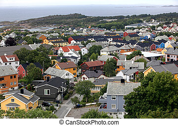 Kristiansund, small town in Norway