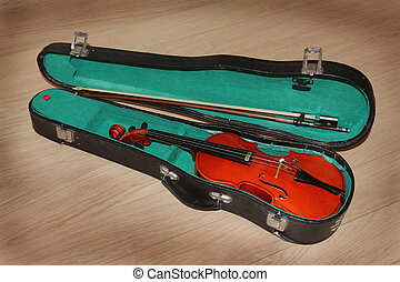 Quarter Size Learning Violin Case - Top View Of A Quarter...