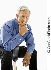 Middle aged man portrait. - Middle aged Caucasian man...