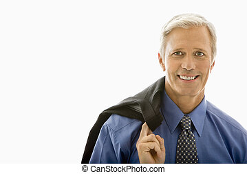 Man in suit. - Middle aged Caucasian man in business suit...