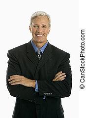 Caucasian businessman. - Middle aged Caucasian man in...