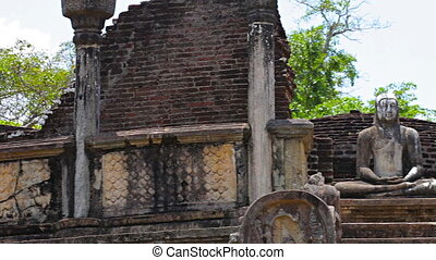 ruins of an ancient Buddhist temple - Video 1920x1080 - The...