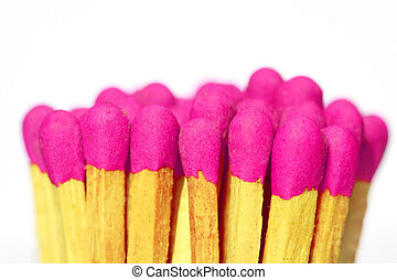 pink wood matches  - pink wood matches