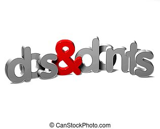 3D Word Dos And Donts on white background