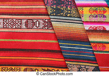 Textiles at the Market - Handmade colorful textiles for sale...