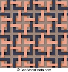 Seamless pattern of square line.