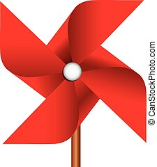 Pinwheel toy - Childrens toy pinwheel as a propeller Vector...