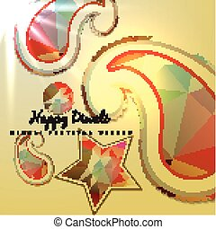 paisley background - vector paisley background design...