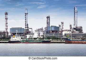 aceite, refinería, fábrica
