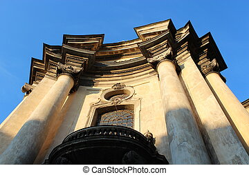 The Dominican church and monastery in Lviv