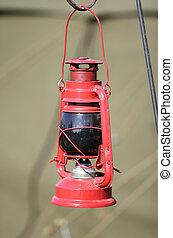 Kerosene lamp - Old Kerosene lamp used during the second...