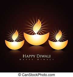 diwali diya - set of beautiful vector diwali diya
