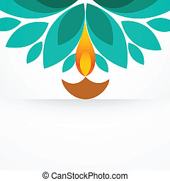 stylish creative diya - stylish colorful diwali diya design