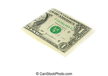one bill of one US dollar