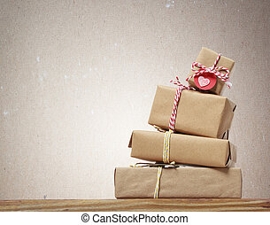 Stack of handcrafted gift boxes - Stack of handcraft gift...