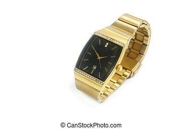 gold watch isolated
