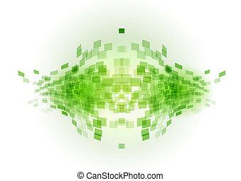 green abstract fish