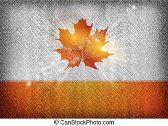 orange autumn leaf