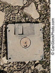 old and dirty floppy disc