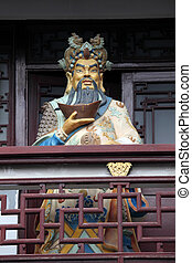 Figure of a chinese warrior in Shanghai, China