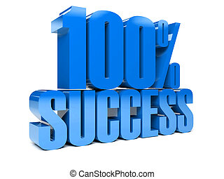 3D text 100% success. - 3D text 100% success. Concept...