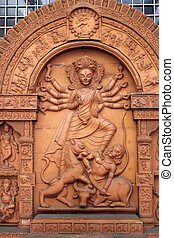 Durga Mahishamardini exposed in the Indian Museum in...