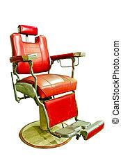 peluquero, Tienda, viejo, formado, cromo, silla