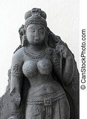 White Tara, from 10th century found in Bihar now exposed in...