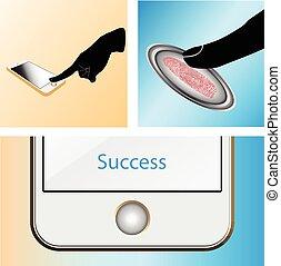 Touch, ID, Fingerprint scan Access