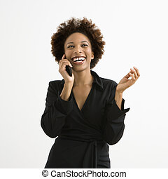 Woman on cellphone