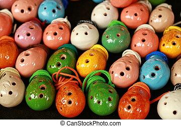 Colorful F-dur ocarinas - Beautiful and colorful ocarinas on...