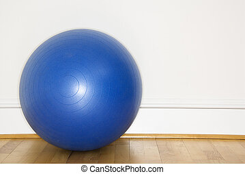 Blue exercise ball - Blue fitness balance ball