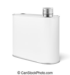 Metal flask isolated on a white background 3d render