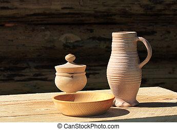 Vintage peasant tableware