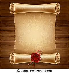 Scroll paper