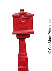old classic red letter box, Thailand