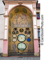 Astronomical clock in Olomouc. - Astronomical clock in...